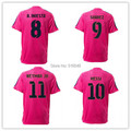 2014-2015 rosa shirt MESSI NEYMAR JR PIQUE I RAKITIC XAVI INIESTA SUAREZ 14 15 rosa  soccer jerseys shirt soccer shirt
