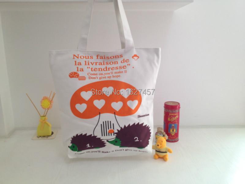 1PC Women Fashion Casual Print Canvas Girls Soft Shopping Bag Handbags L40(China (Mainland))