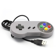 2015 Classic Retro USB Retro Color Controller Gamepad Joypad Joystick For Nintendo SF For SNES Windows PC for/-MAC Replacement