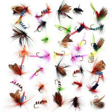 36pcs Lures Promotion Fly fishing Hooks Butterfly Insects Style Salmon Flies Trout Single Dry Fly Fishing Lure Fishing Tackle