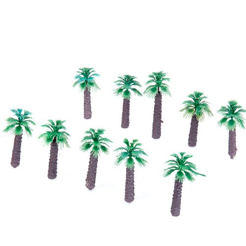 Wholesale 10PCs/Lot x 10pcs 2 Inch Model Palm Trees Layout Train Scale 1/400(China (Mainland))