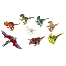 Funny 8PCS Dinosaur World Park Series Minifigures Building Bricks Toys For Kids Child(China (Mainland))