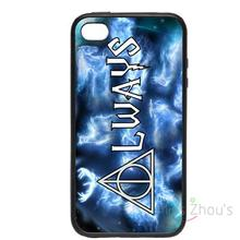For iphone 4/4s 5/5s 5c SE 6/6s plus ipod touch 4/5/6 back skins cellphone cases cover Deathly Hallows Always Harry Potter