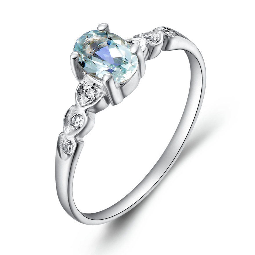Compare Prices On Aquamarine Pinky Ring Online Shopping