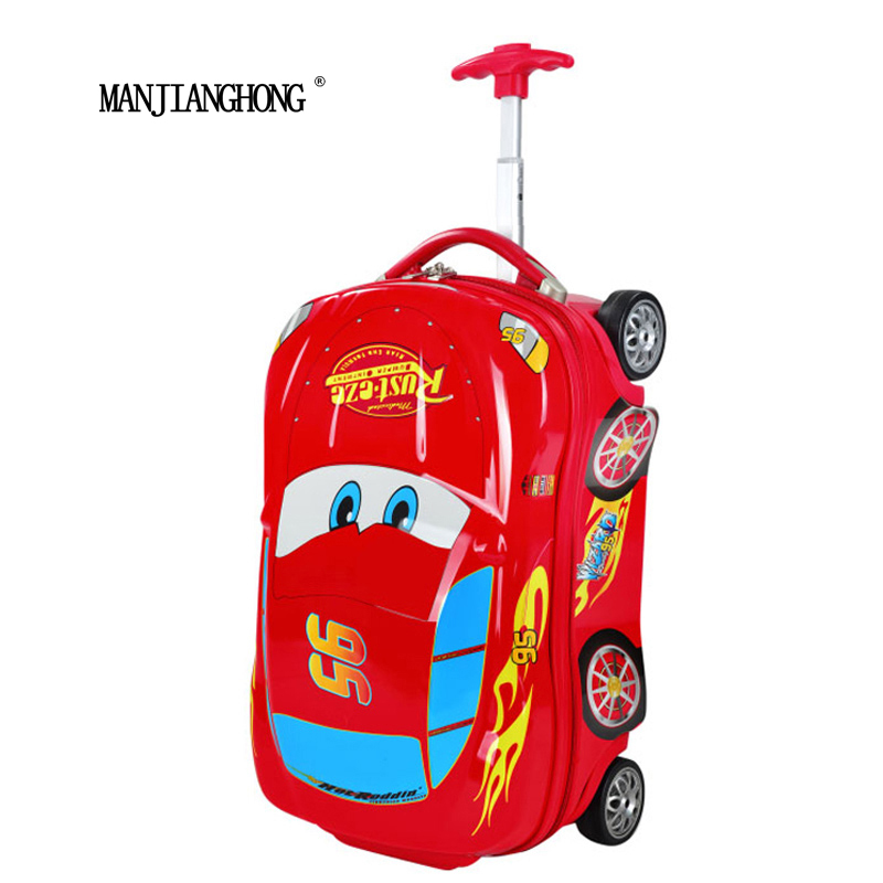 """18 """" High quality 3D car cartoon children's suitcase/ABS hard shell trolley luggage bag with wheels/cartoon travel suitcase Kids(China (Mainland))"""