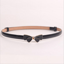 Hot! 2016 Fashion Female Accessories Alloy bowknot + Automatic adjustment Leather Belt Straps Wide Waistband For Women