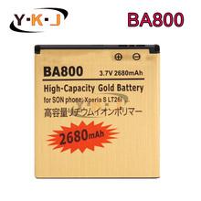 2680mAh BA800 Gold Replacement Battery For Sony Ericsson Xperia S LT26i Arc HD Xperia V LT25C LT25i Batteries Batteria Batterij