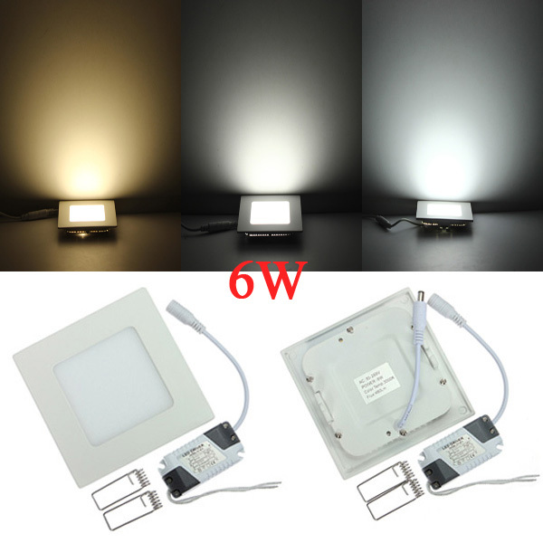 Lowest price!   Led Panel Downlight  6w  Square/Round Ceiling Recessed Spot Light AC85-265V Painel lamp Indoor Lighting<br><br>Aliexpress