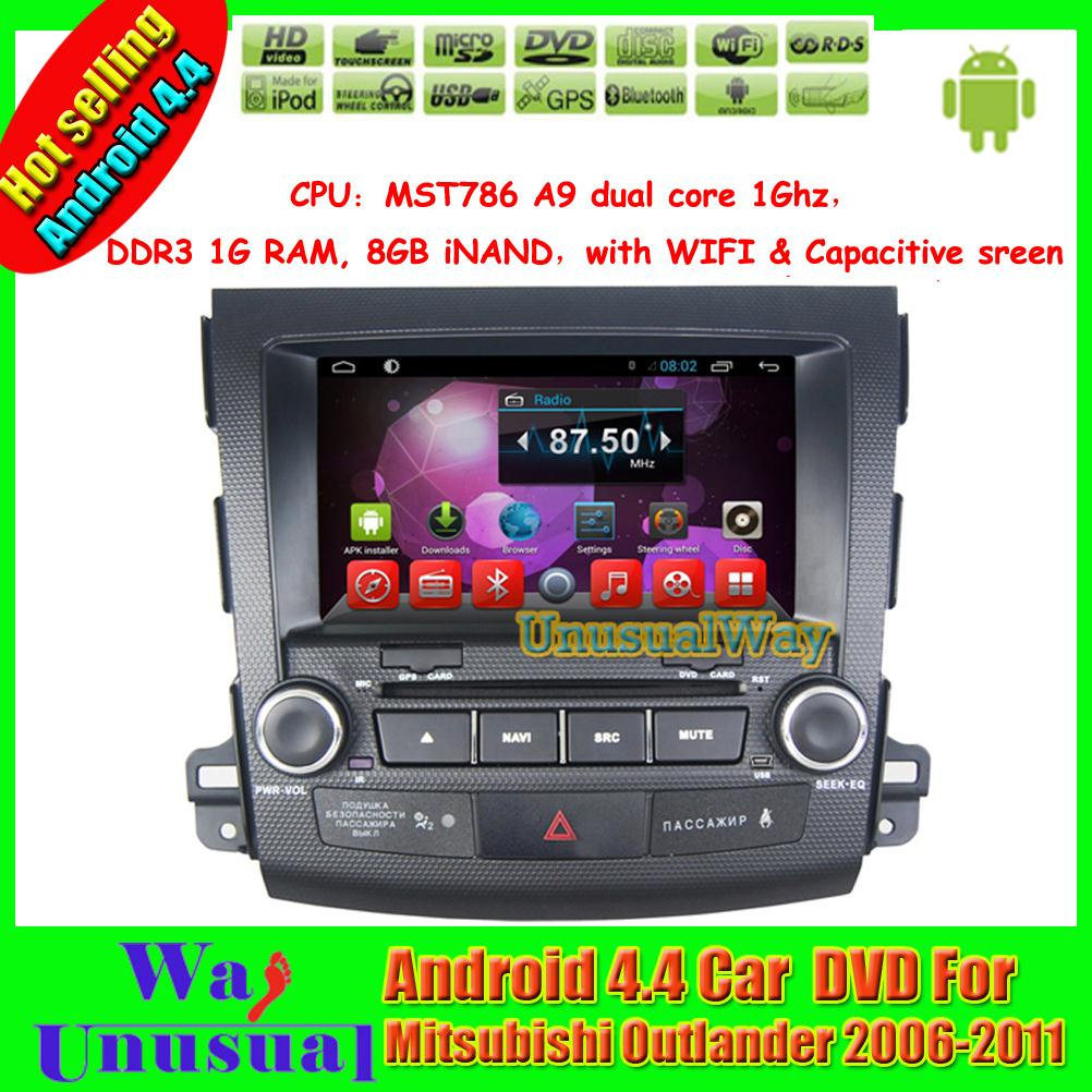 Pure Android 4.4.4 8 inch Auto DVD GPS for Mitsubishi outlander 2006 2007 2008 2009 2010 2011 with 800*480 free shipping(China (Mainland))