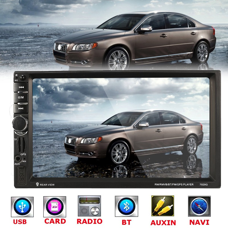 7 Inch HD Touch Screen Car MP4 MP5 Bluetooth Player GPS Navigation FM/AUX-IN/USB/MP3 2 Din In Dash Audio Video Player