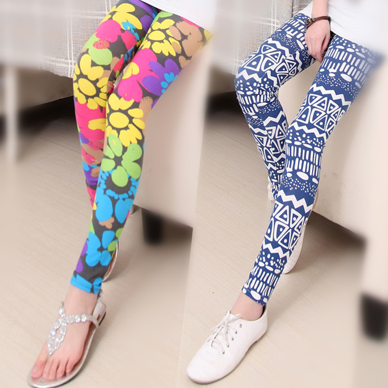 2015 Rushed Geometric Sport Women Leggings Hot Elastic Design Vintage for Graffiti Leggings for Women free Shipping Leggins Sale(China (Mainland))