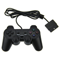 Original Black wired Dual Vibration Controller Gamepad for Sony Playstation 2 PS2 Controller Dualshock 2 Joystick