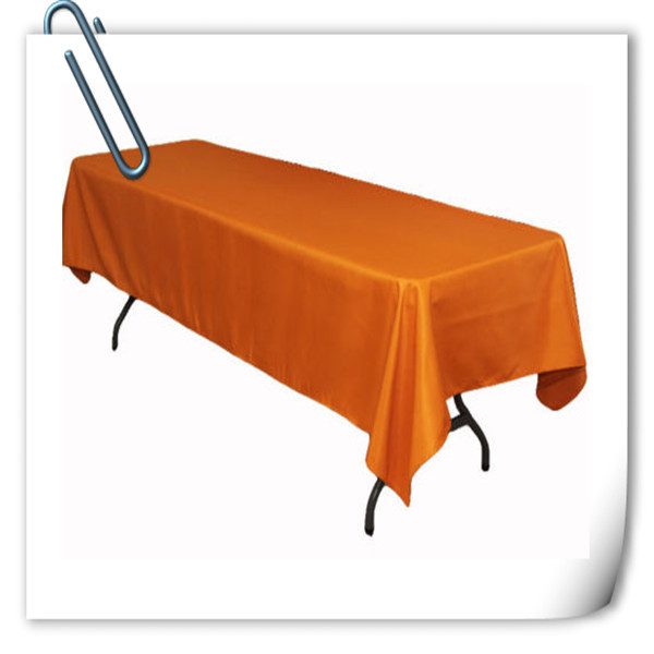 Big Discount !!! 10pcs 150*320cm Rectangle Orange table cloth 180GSM For Wedding Events &Hotel & Banquet Free shipping(China (Mainland))