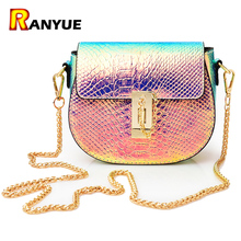 Buy PU Laser Small Mini Flap Bag Women Messenger Bags Chain Serpentine Bolsa Luxury Handbags Women Bags Designer Crossbody Bags Sac for $16.57 in AliExpress store