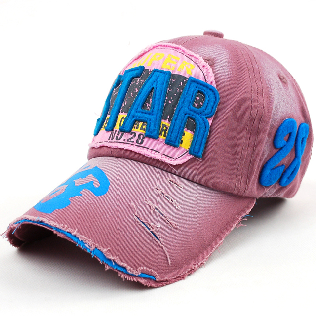 Eratos women's summer letter star 100% male casual cotton cap baseball cap