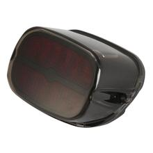 12V Motorcycle LED Tail Light With Brake Running License Plate Light Lamp Function Black Red Lens For Harley DYNA Sportster(China (Mainland))