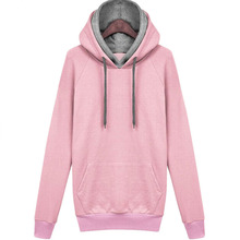 Women Autumn Winter Sweatshirt Casual Double Hoodies Long Sleeve Female Pullover Sport Tops Women's Clothings 2015 New(China (Mainland))