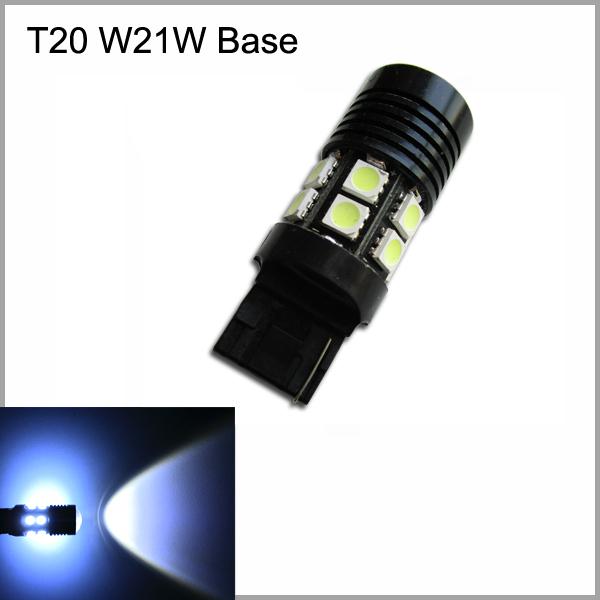 2pcs/Lot T20/W21W Base White LED Car LED Reverse lights bulbs(China (Mainland))