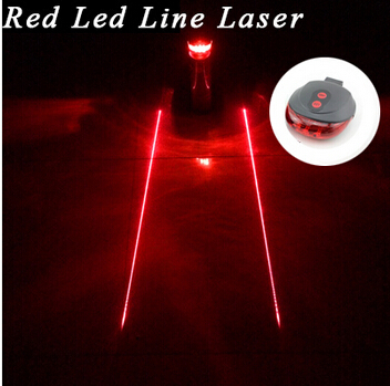 Tail light (5LED+2Laser) free shipping factory Cycling Safety Bicycle Rear Lamp Bike Laser Tail Light Bicicleta Caution TL0009(China (Mainland))