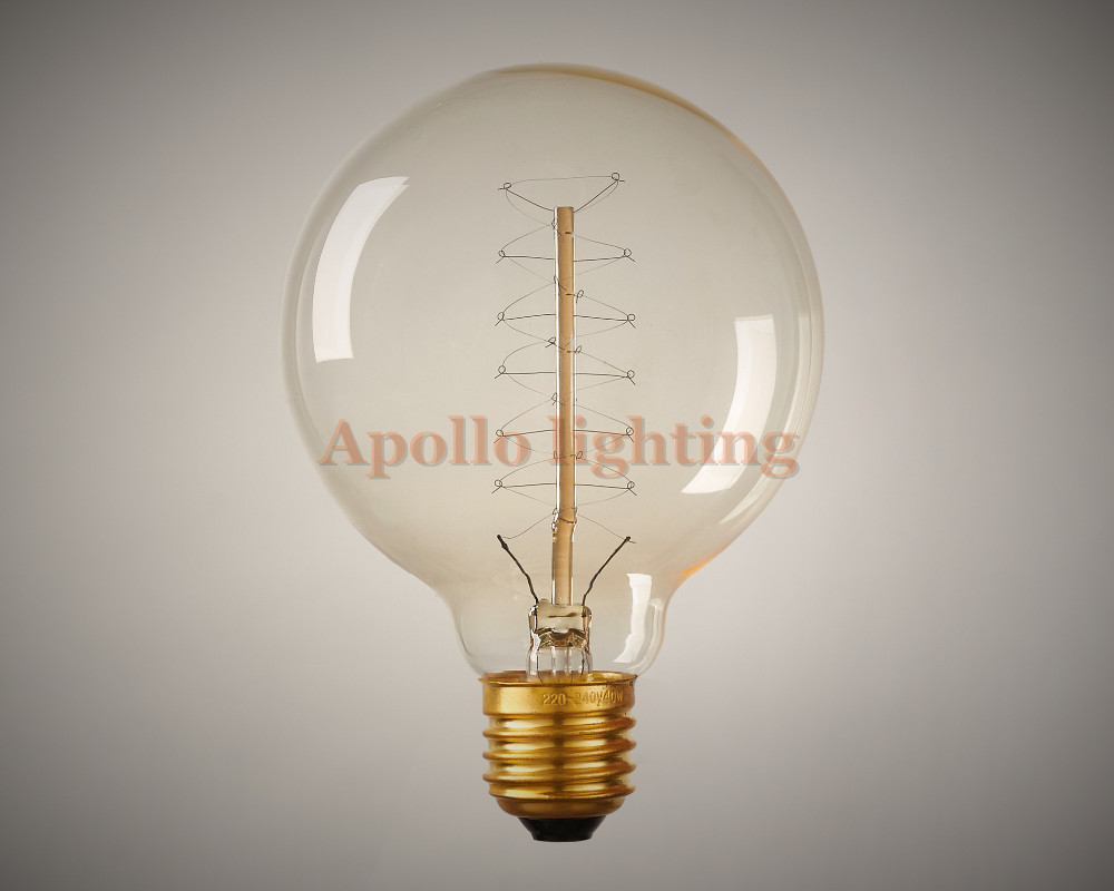 Free shipping vintage retro diy e27 spiral incandescent for Diy edison light fixtures