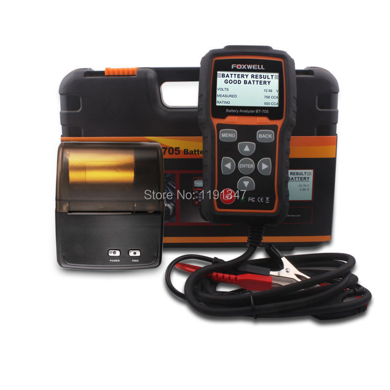 FOXWELL BT705 Battery Analyzer Check Battery Health And Detect Faults of Starting & Charging System with Bluetooth Printer(China (Mainland))