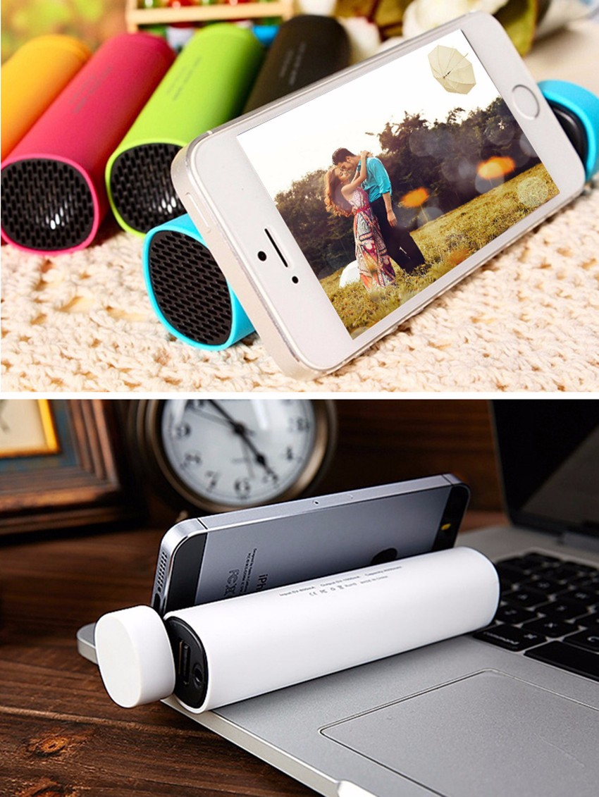 SiciLY Newest 3in1 mini portable with power bank & Speaker & phone stander functions Super bass clear voice for Mobile phone