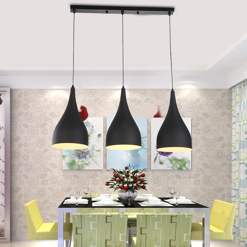 Modern Pendant Light Loft Kitchen Design Rope Lamp Matte Black Painting Iron Simple Style E27 220V For Decor Home Lighting(China (Mainland))
