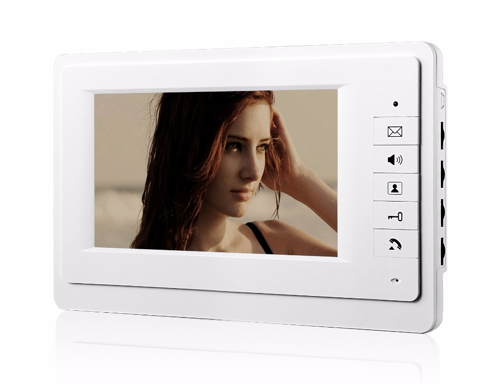 7 LCD Wired Video Door Phone Intercom CMOS Night Vision Camera with RFID Door Access Control