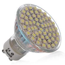 GU10 4.5 W 60 LED 3528 SMD LED AC 220 V LED Spotlights Spot Lights Bulb Lamp Energy Saving 300LM(China (Mainland))