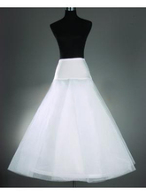 2014 Free Shipping White A-Line Petticoats Crinoline Underskirt for Long A-Line Wedding Dresses Bridal Accessories PE3(China (Mainland))