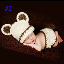 Hot New Soft Baby Clothes Newborn 0-3 Months Women Girl Baby Photography Props Wild Hand-knitted Crochet Dress Photography Props
