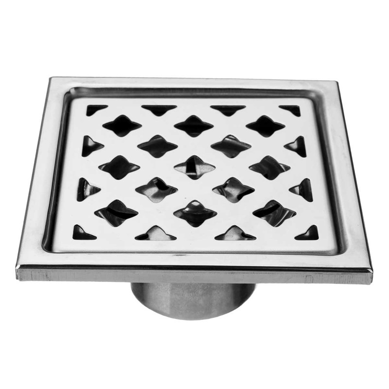 New Arrival Stainless Steel Bathroom Shower Floor Drains Brushed Steel Finish Deodorization Anti-Corrosion Insect Prevention<br><br>Aliexpress