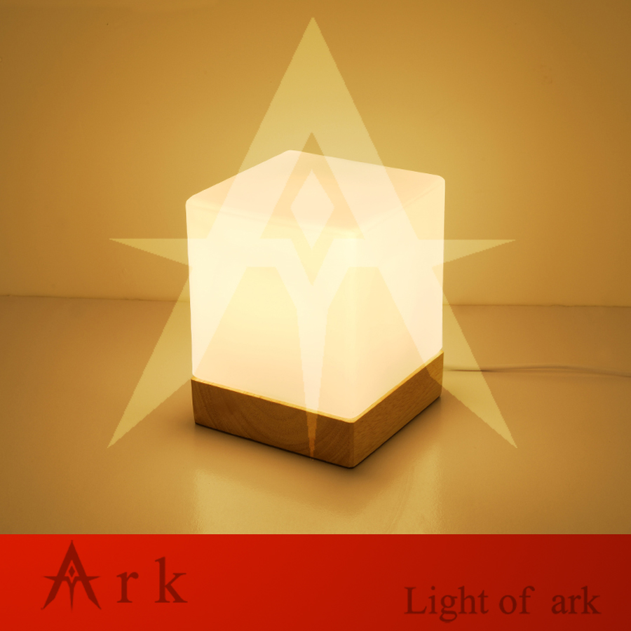 ark light design Modern Nordic American country led wood ICE CUBE table lamp home decor book lamp bedside light fixture(China (Mainland))