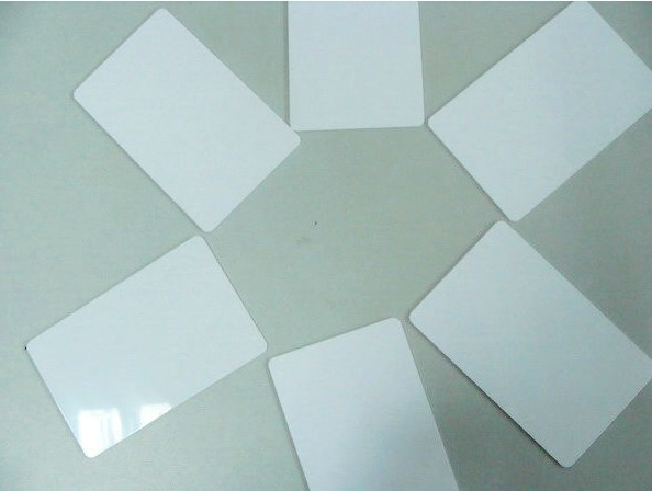 White blank Plastic PVC card with printable overlay laminated cards(China (Mainland))