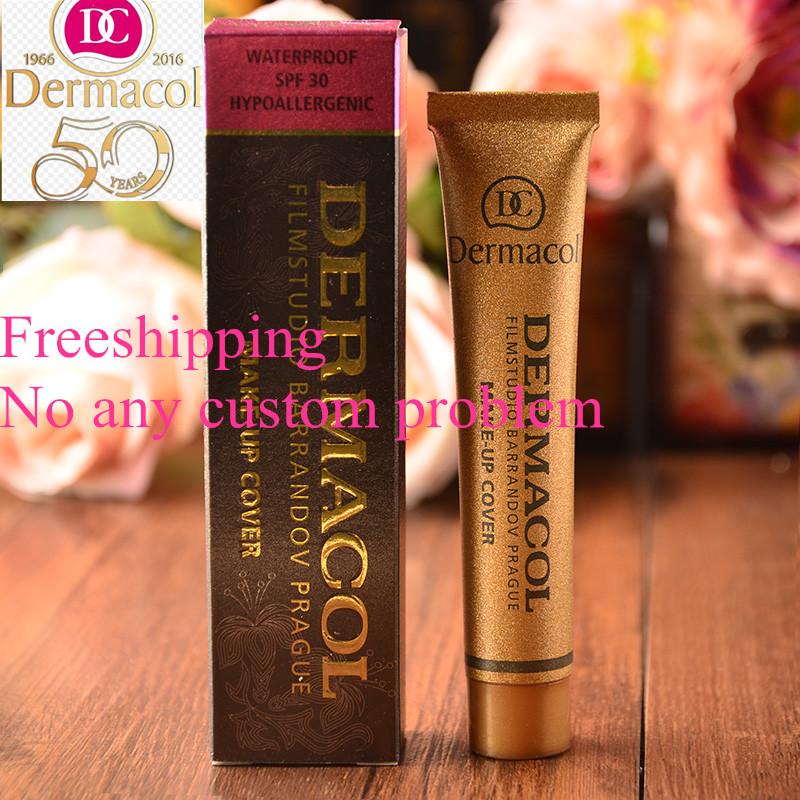 Dermacol Make up Cover 30g Primer Concealer Base Professional Face Dermacol Makeup Foundation Contour Palette original Base(China (Mainland))