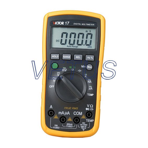 Фотография VC17 Digital AC/DC Multimeter VICTOR 17 Mini Portable Handheld Multimeter