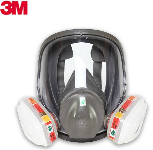 3M 6800 + 6009 full facepiece reusable respirator filter protection masks Respiratory Mercury Organic Vapor or Chlorine Acid Gas(China (Mainland))