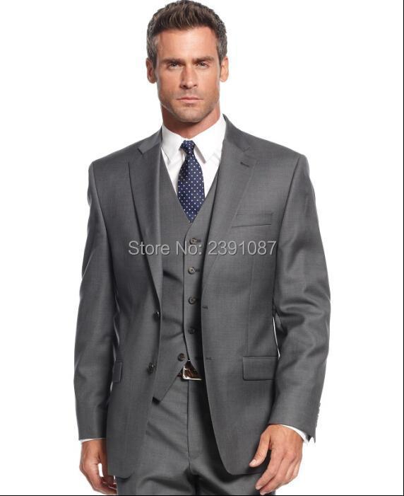 Bespoke New Mens 2 Piece Gray Waistcoat Groomsmen Best Man Formal Vest and Pants