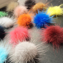 Free shipping 100PCS 30MM mink fur ball Jewelry Findings handmade mink ball wholesale for shoes,jewelry,cloth