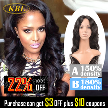 "KBL Top Quality Glueless Lace Front Wigs 14""-26"" 5A Natural Remy Virgin Brazilian Human Hair Silk Front Lace Wig For Black Women(China (Mainland))"