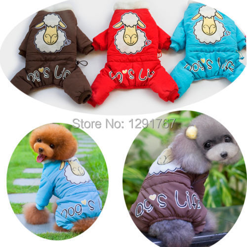 Winter Cute Sheep Pet Puppy Costume For Dogs Yorkshire Chihuahua Pomeranian Poodle Cat Clothes Warm Animal Costume(China (Mainland))