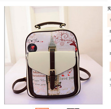 Fashion Printing Students School Bags Women Backpacks High Quality pu leather Backpack(China (Mainland))