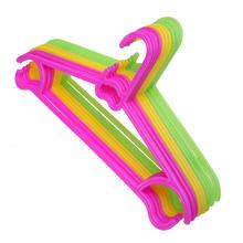 10PCS Non-Slip Plastic Kids Children Toddler Baby Clothes Coat Hangers Hook E1Xc(China (Mainland))
