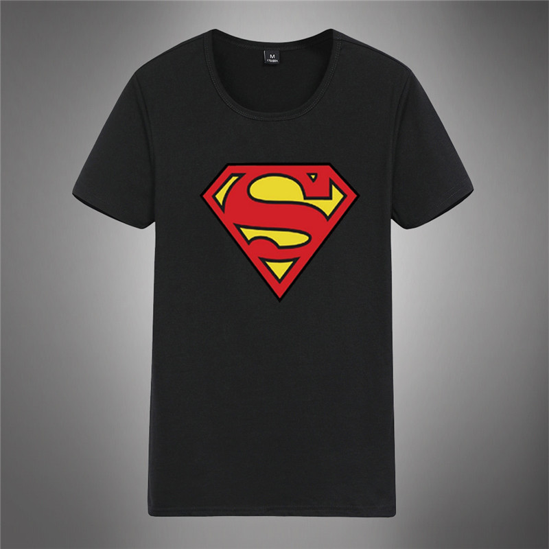 Mens t shirts fashion 2016 summer brand t shirt men Super Hero Superman print cotton casual t-shirt tshirt for men Plus size(China (Mainland))