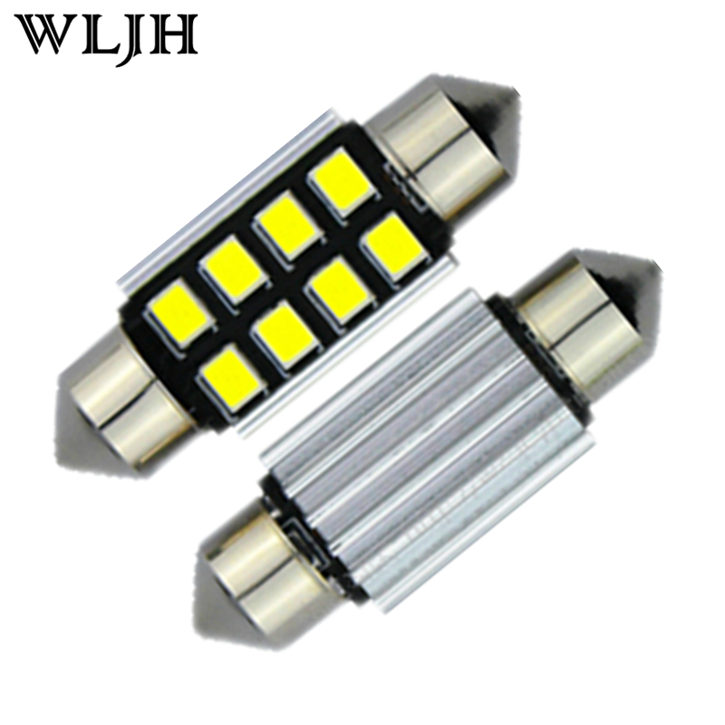 2x Canbus 36mm C5W White Led 2835SMD 8LED Number Plate Light Bulb Audi A2 A3 A4 A5 A6 A7 A8 Q5 Q7 R8 RS4 RS5 RS6 RS7 TT - PJ Auto Tech Lighting store