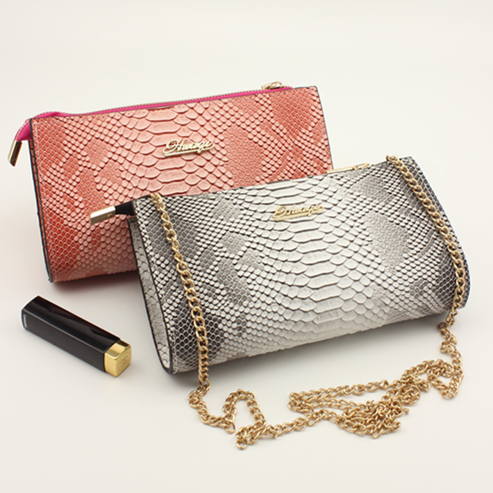 Shell bag female fashion 2015 van women's for Crocodile day clutch ladies evening bag chain one shoulder small bag(China (Mainland))