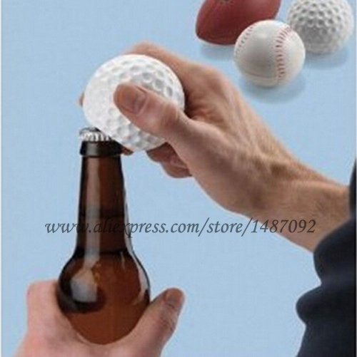 Sports Lover's Fashion Golf Ball Style Bottle Opener With Sound/ Beverage Beer Soft Drink For Gift(Free shipping and tracking)(China (Mainland))