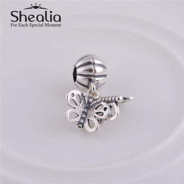 Серебро 925 навсегда друзья бабочка мотаться бусины DIY ремесло изготовления ювелирных изделий подходит европейским очаровывает браслеты