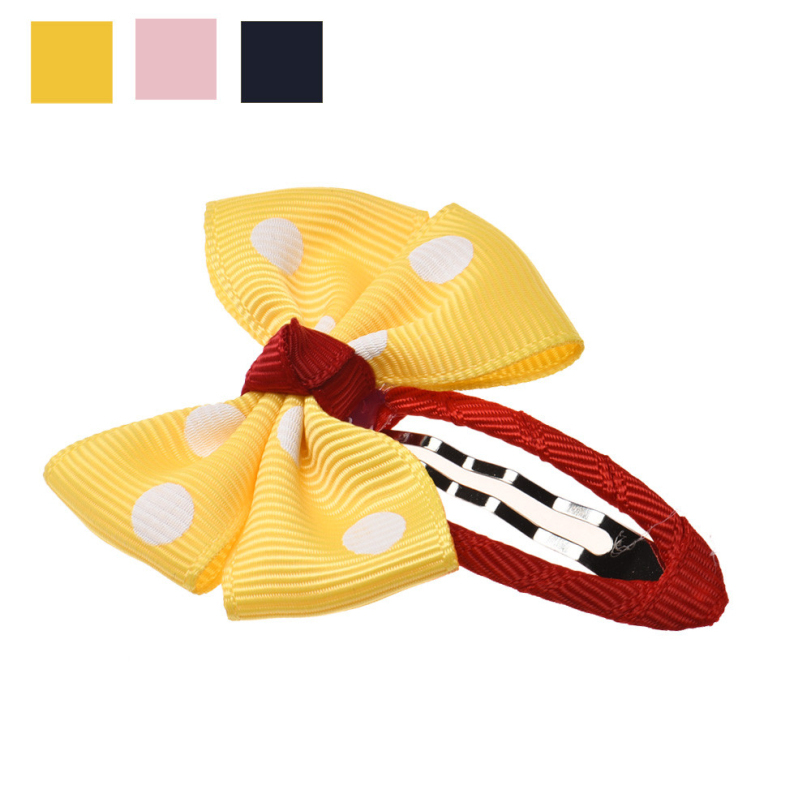 ! Kids Girls Polka Dot Bowknot Hair Clips Lovely Bow knot Baby Girl Hairpins Accessories - E-Shocking store