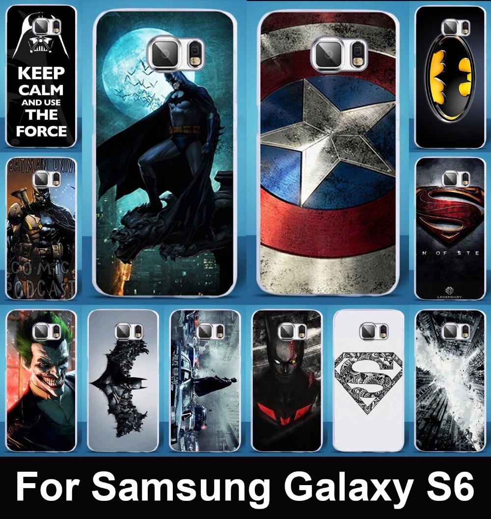 Гаджет  Hot sale super&Bat man Captain America creative mobile phone case protective case hard Back cover for Samsung Galaxy S6 G9200 None Телефоны и Телекоммуникации